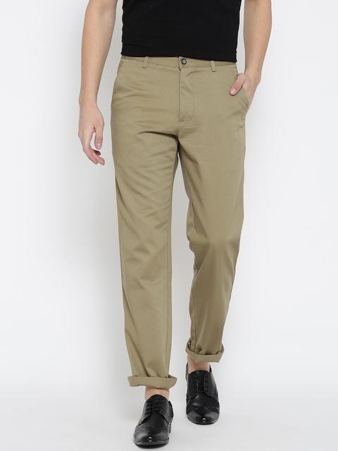 Monte Carlo Men Khaki Casual Trousers