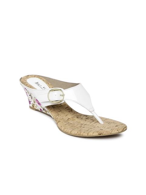 Inc 5 Women White Solid Wedges