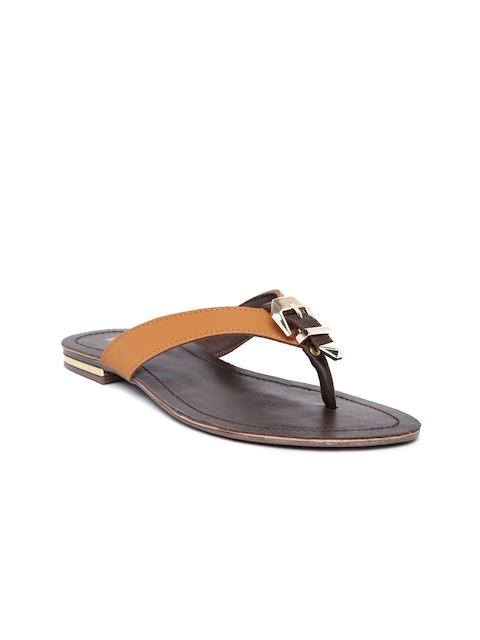Inc 5 Women Brown Solid Open Toe Flats