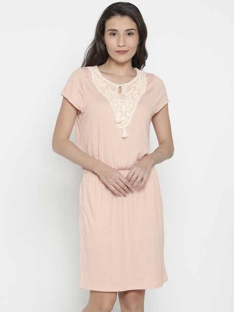 Vero Moda Women Peach Solid Other Dress