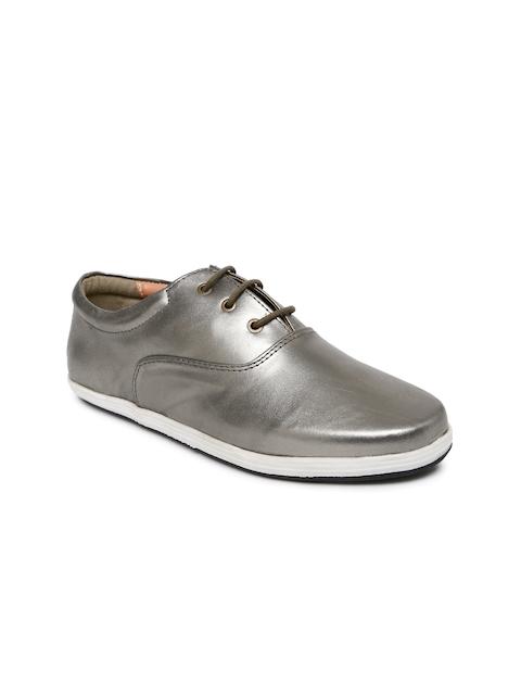 Lavie Women Gunmetal-Toned Oxford Casual Shoes