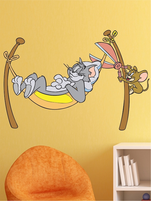 Aspire Multicoloured Ton & Jerry Cartoon Themed Wall Art