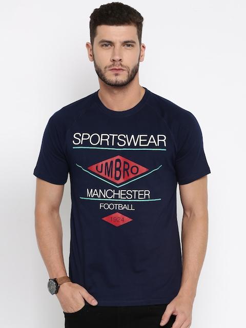 Umbro Navy Blue Printed T-shirt