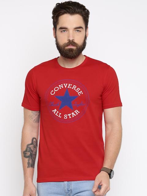 Converse Men Red Printed T-shirt