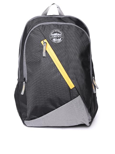 Gear Unisex Black Solid Backpack