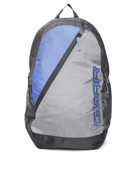 Gear Unisex Grey Colourblocked Backpack