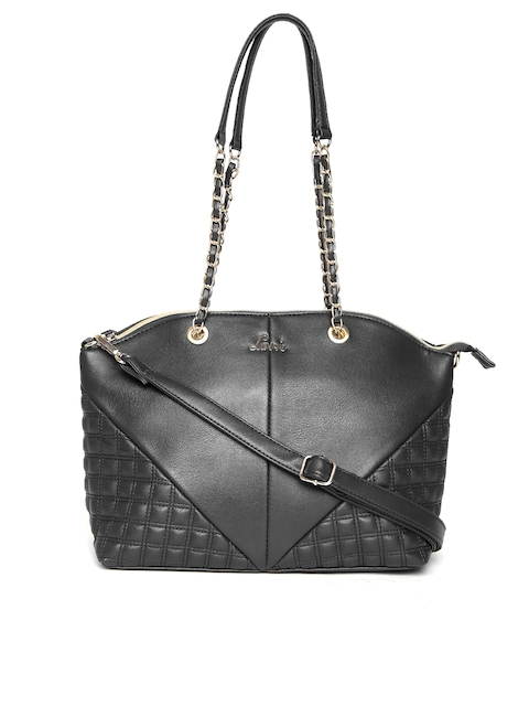 Lavie Black Quilted Shoulder Bag with Sling Strap`