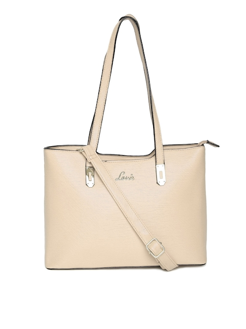 Lavie Beige Shoulder Bag with Sling Strap