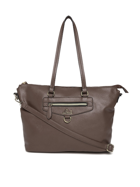 Lavie Coffee Brown Solid Shoulder Bag with Sling Strap
