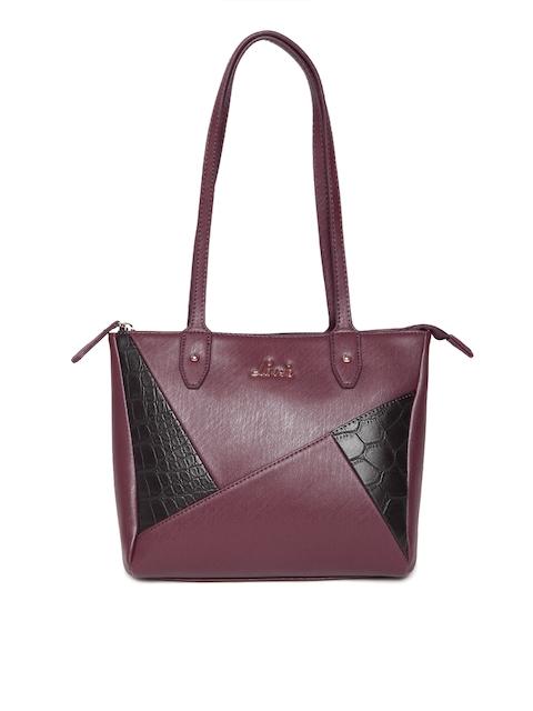 Lavie Burgundy Textured Shoulder Bag