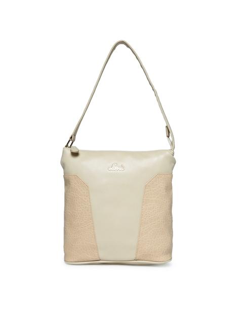 Lavie Beige Textured Hobo Bag