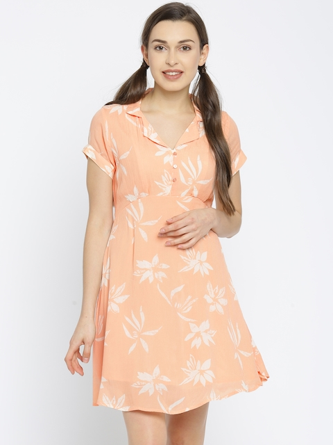 Vero Moda Women Peach A-Line Dress