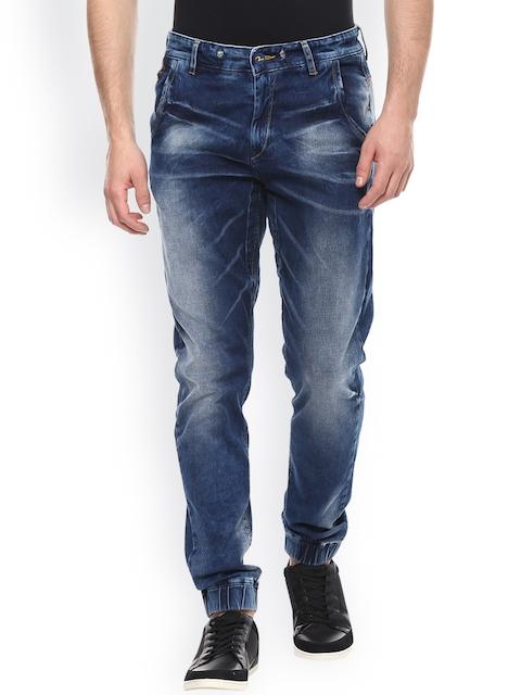 SPYKAR Men Blue Jogger Fit Mid Rise Jogger Jeans
