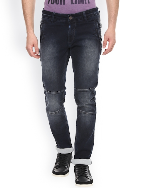 SPYKAR Men Navy Skinny Fit Low Rise Clean Look Jeans