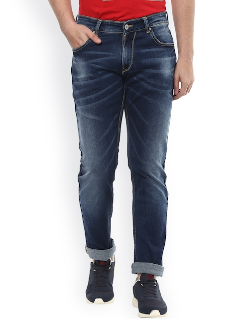 SPYKAR Men Blue Tapered Fit Low Rise Clean Look Jeans