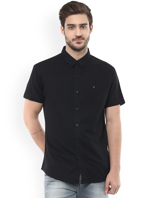 SPYKAR Black Slim Fit Casual Shirt