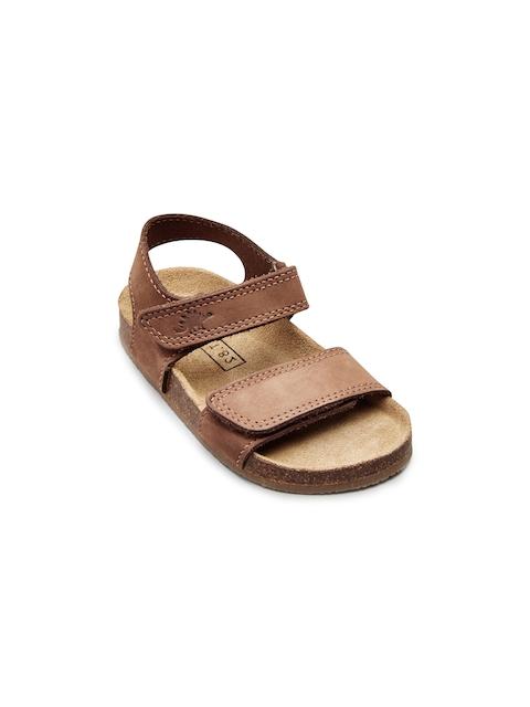 next Boys Tan Brown Genuine Leather Sandals