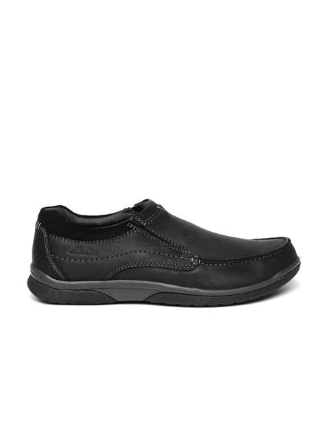 Clarks Men Black Randle Loafers