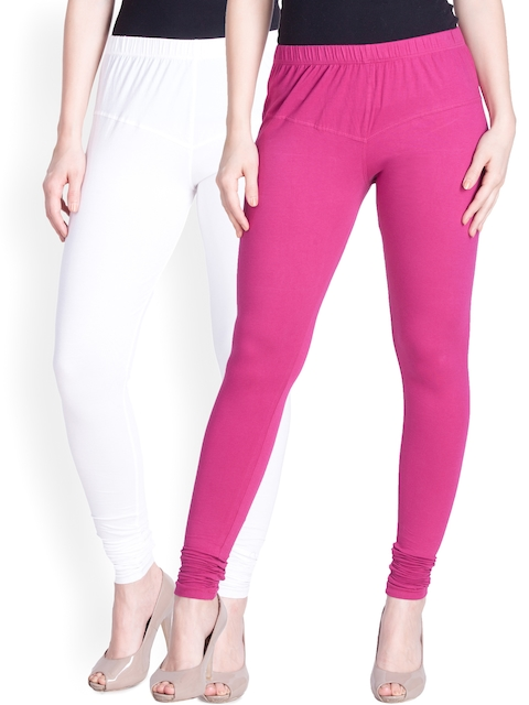 Lux Lyra SILK Pack of 2 Churidar Leggings  available at myntra for Rs.598