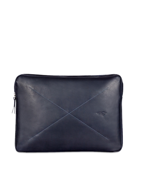 Quick Brown Fox Men Leather Laptop Sleeve