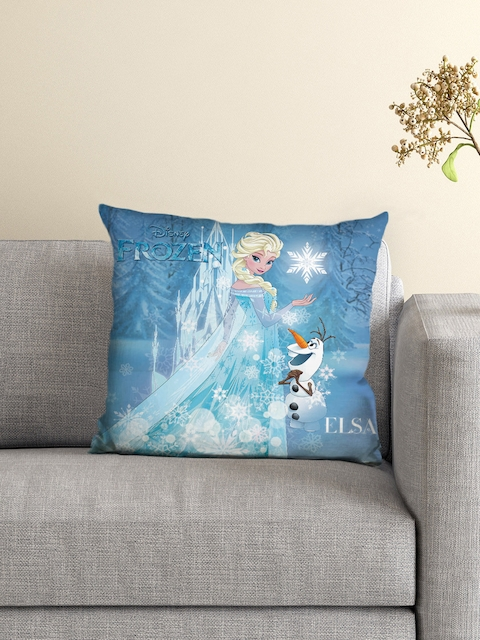 Athom Trendz Disney Frozen Blue Single Fibre 16 x 16 Square Cushion with Cover