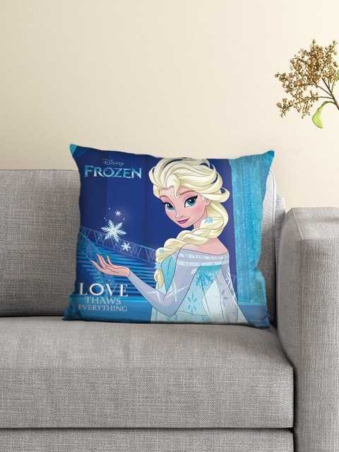 Athom Trendz Disney Frozen Blue Single 16 x 16 Square Cushion with Cover