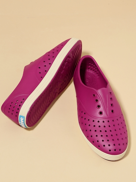 native shoes Women Magenta Perforated Slip-On Sneakers
