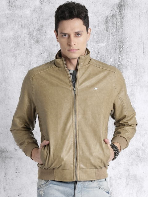 RDSTR Men Tan Brown Solid Bomber