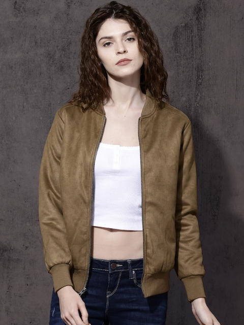 Roadster Women Khaki Solid Bomber