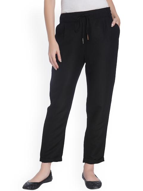 ONLY Black Loose Fit Trousers