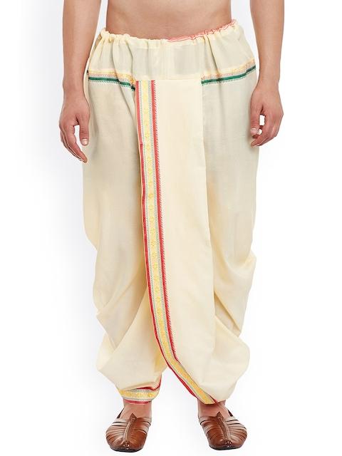 SOJANYA Cream-Coloured Dhoti Pants
