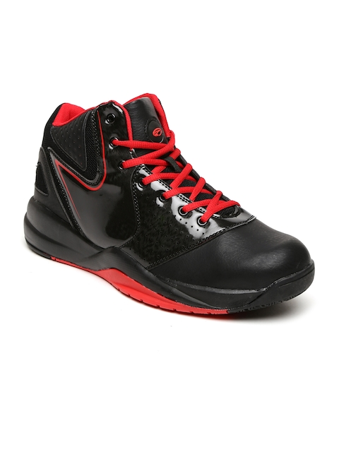 Boltio Men Black High-Top Basketball Shoes