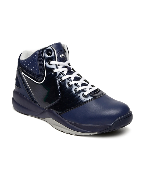 Boltio Men Navy High-Top Basketball Shoes