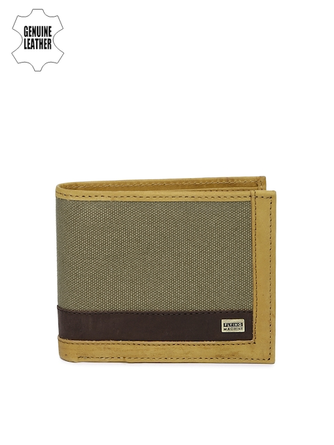 Flying Machine Men Brown & Olive Wallet