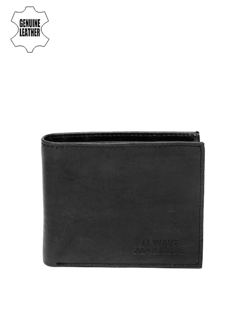 Flying Machine Men Black Genuine Leather Wallet