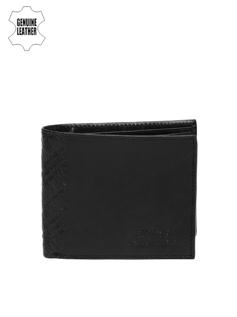 Flying Machine Men Black Leather Wallet