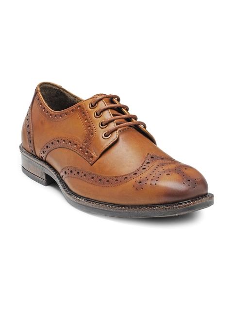 Teakwood Leathers Men Tan Brown Leather Brogues
