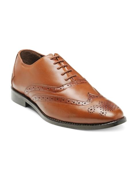 Teakwood Leathers Men Tan Brown Leather Formal Shoes