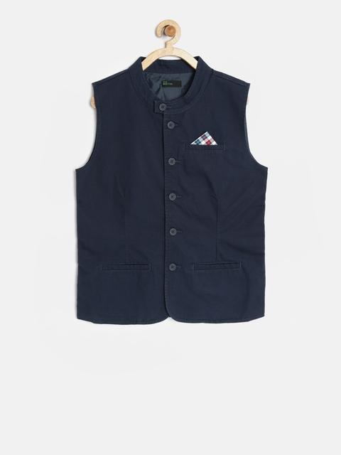 United Colors of Benetton Boys Navy Waistcoat