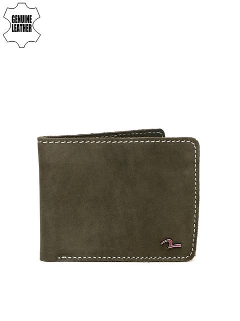SPYKAR Men Olive Green Solid Two Fold Wallet