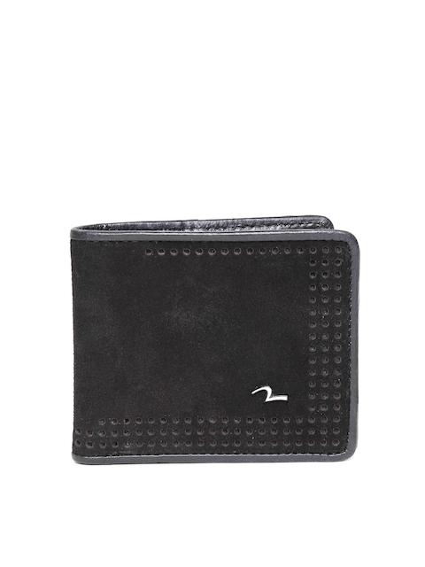 SPYKAR Men Black Solid Leather Two Fold Wallet