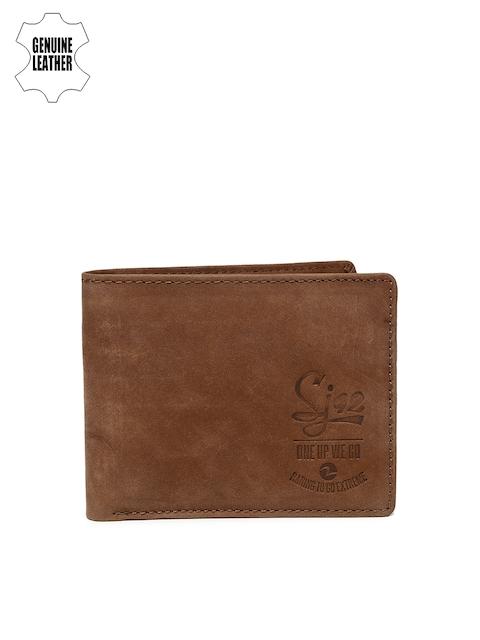 SPYKAR Men Brown Solid Genuine Leather Twofold Wallet