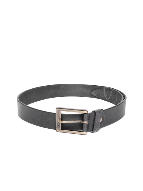 SPYKAR Men Black Genuine Leather Belt