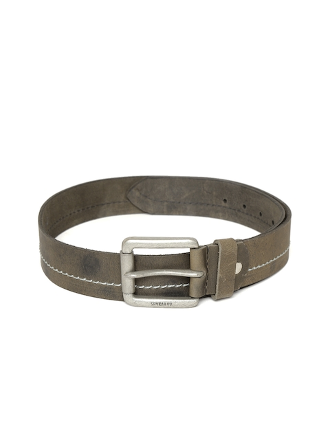 SPYKAR Men Olive Green Genuine Leather Belt