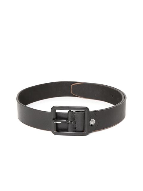 SPYKAR Men Black Solid Genuine Leather Belt