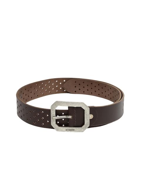 SPYKAR Men Brown Solid Genuine Leather Belt