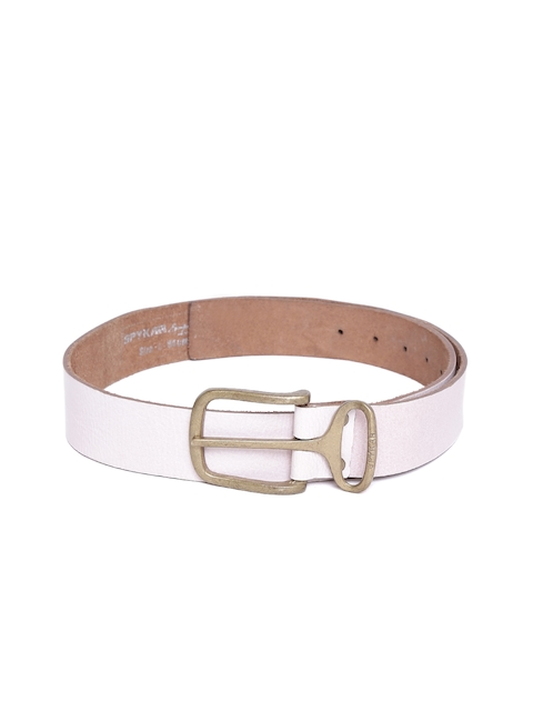SPYKAR Men Dusty Pink Genuine Leather Belt