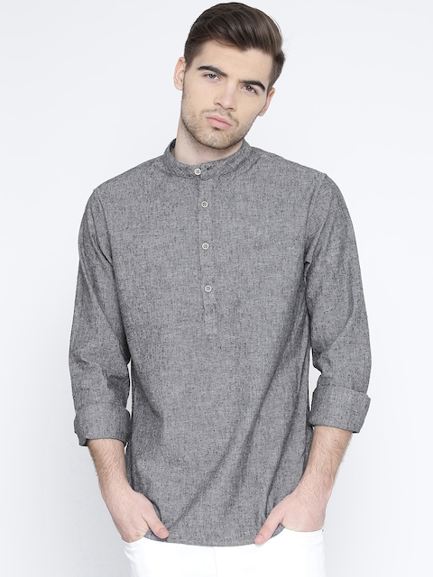 United Colors of Benetton Men Grey Solid Casual Shirt