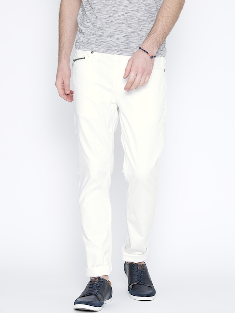 United Colors of Benetton Men White Skinny Fit Jeans