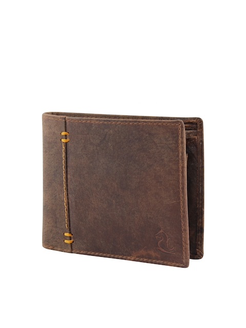Kara Men Brown Genuine Leather Wallet